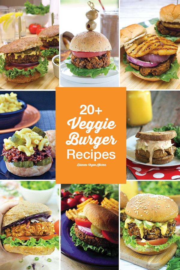 20+ Vegan Veggie Burgers for Labor Day (or any day!) >> Dianne's Vegan Kitchen