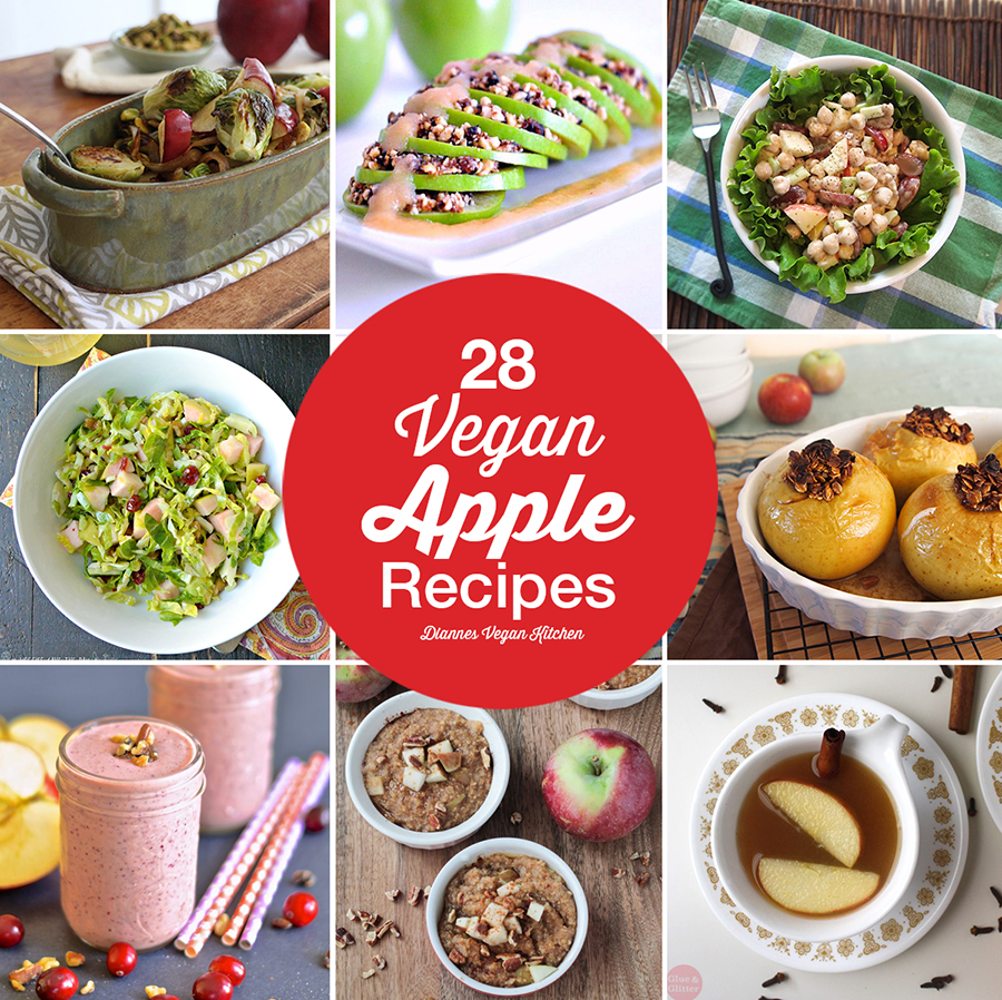 28 Vegan Apple Recipes for Autumn >> Dianne's Vegan Kitchen