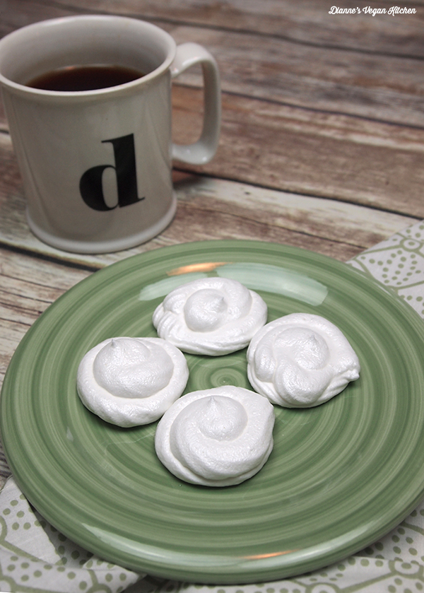 Aquafaba Vegan Meringue Cookies >> Dianne's Vegan Kitchen