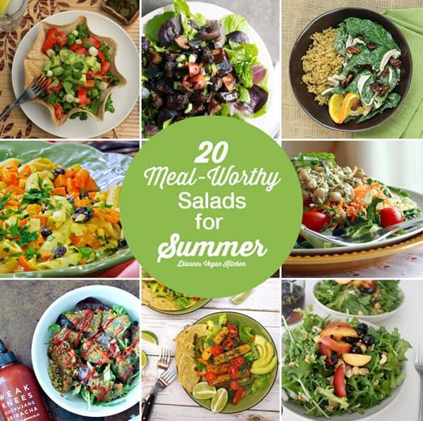 20 Meal-Worthy Salads for Summer >> Dianne's Vegan Kitchen