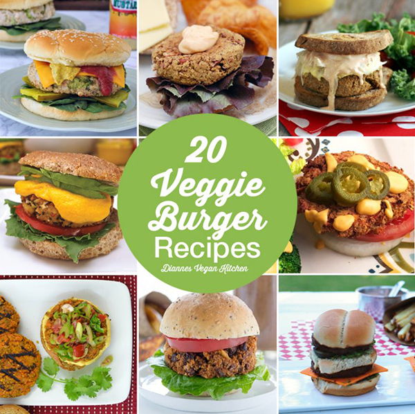 20 Veggie Burger Recipes >> Dianne's Vegan Kitchen