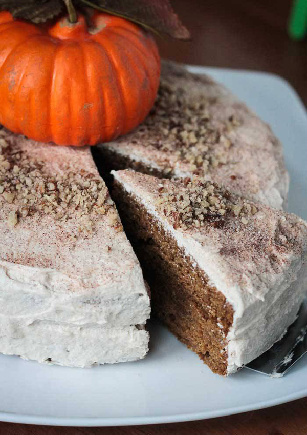 Veggie Inspired Journey's Chia Spiced Pumpkin Layer Cake