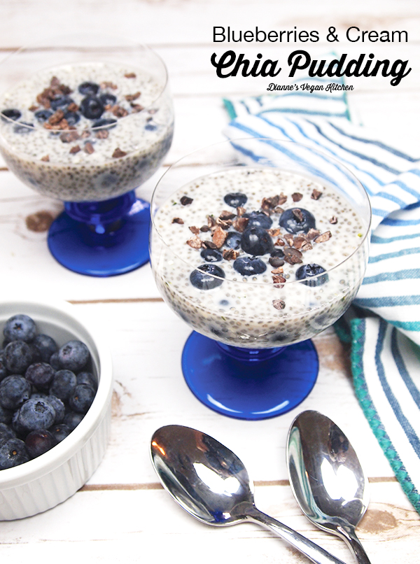 Blueberries and Cream Chia Pudding from Easy. Whole. Vegan. by Melissa King, dairy-free and gluten-free >> Dianne's Vegan Kitchen