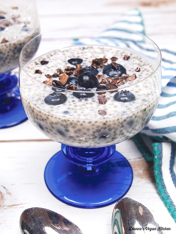 Blueberries and Cream Chia Pudding
