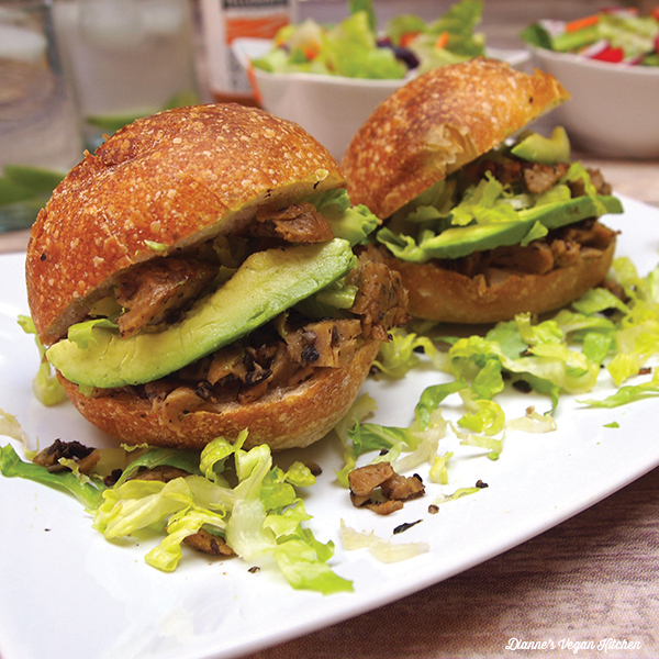 Fried Shredded Seitan Sandwiches from Vegan Mexico by Jason Wyrick
