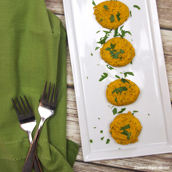Curried Garbanzo Cakes with Poppy Seeds from Healing the Vegan Way