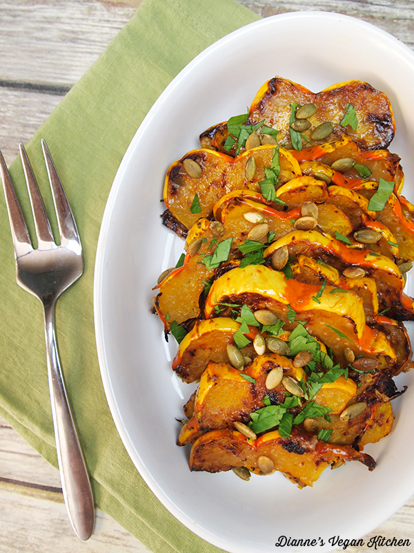Maple-Miso Glazed Squash >> Dianne's Vegan Kitchen
