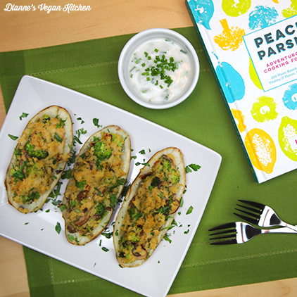 Leek and Wild Mushroom-Stuffed Potato Skins from Peace & Parsnips by Lee Watson