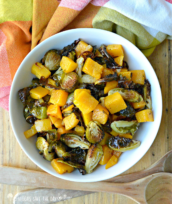 Veggies Save the Day's Roasted Brussels Sprouts & Butternut Squash