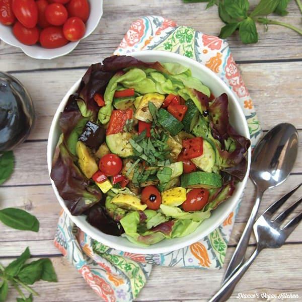 Roasted Ratatouille Salad >> Dianne's Vegan Kitchen