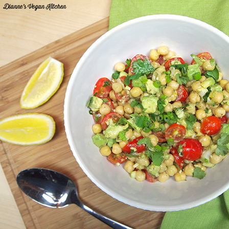 Summertime Avocado-Chickpea Salad