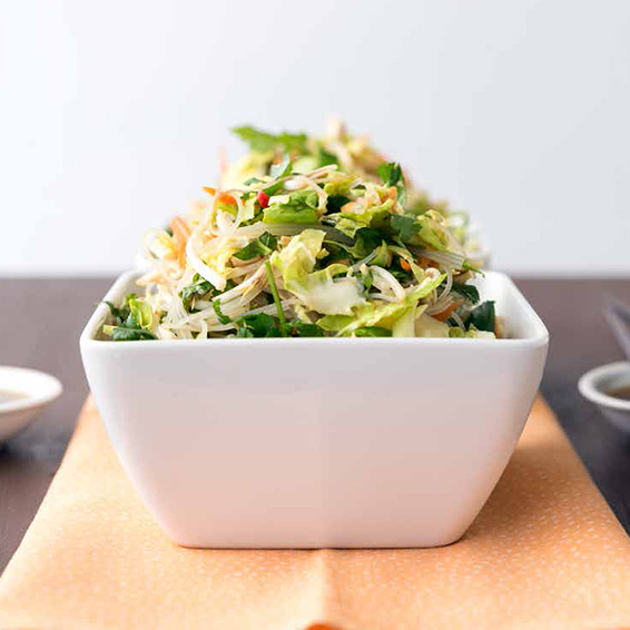 brussels sprout and noodle salad