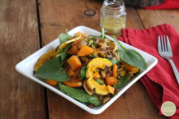 Cadry's Kitchen's Delicata Squash & Persimmon Salad