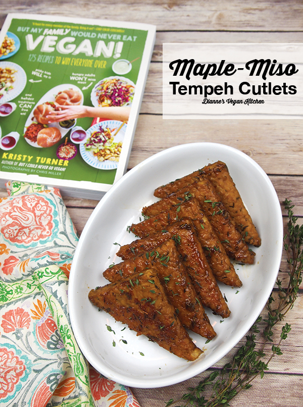 Maple-Miso Tempeh Cutlets from But My Family Would Never Eat Vegan by Kristy Turner >> Dianne's Vegan Kitchen