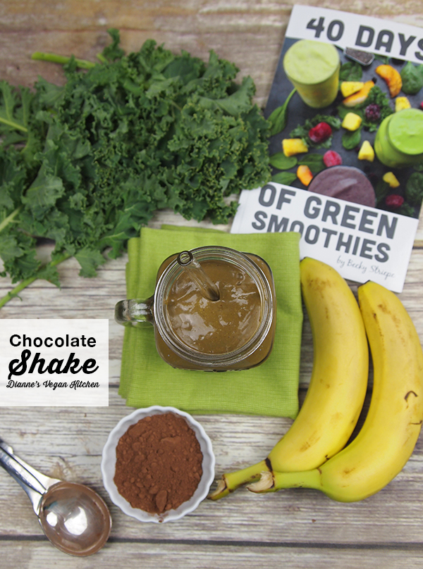 Vegan Chocolate Shake from 40 Days of Green Smoothies