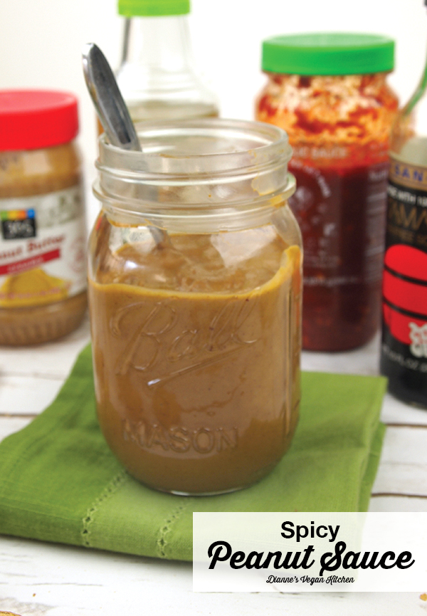 Spicy Peanut Sauce to Slather on Everything >> Dianne's Vegan Kitchen