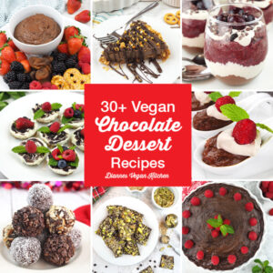 30+ Vegan Chocolate Dessert Recipes for Valentine's Day