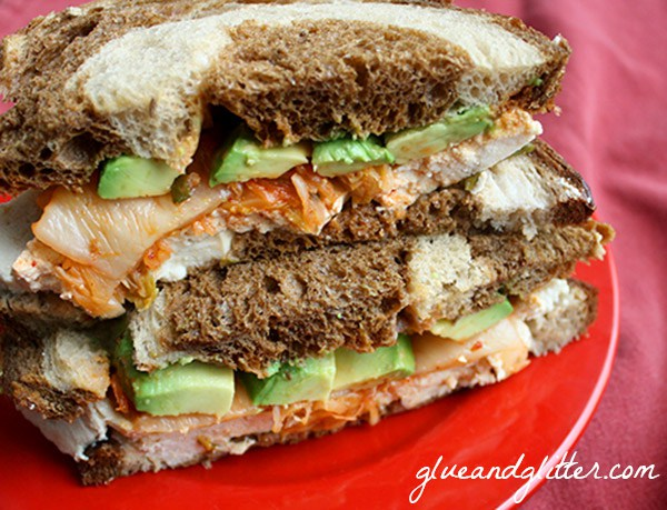 Glue and Glitter's Corned Tofu and Not-a-Reuben Sandwich
