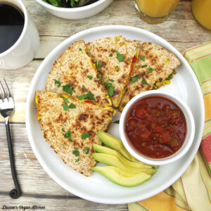 Sante Fe Vegan Breakfast Quesadillas