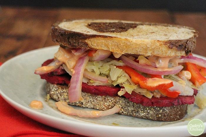 The Chicago Diner's Radical Reuben (via Cadry's Kitchen)