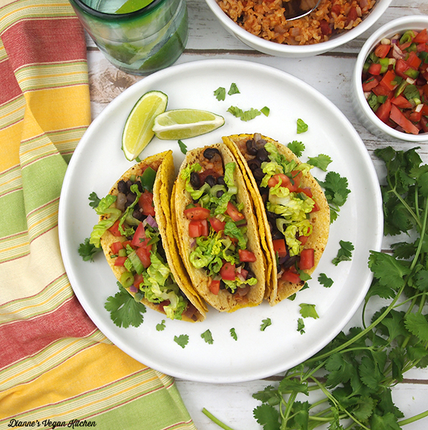 Double-Shelled Black Bean Tacos