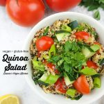 quinoa salad with text overlay