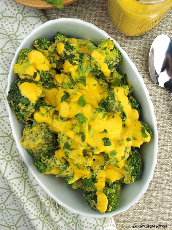 Vegan Broccoli with Cheese Sauce