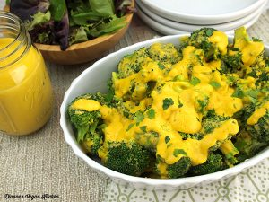 Vegan Broccoli with Cheese Sauce