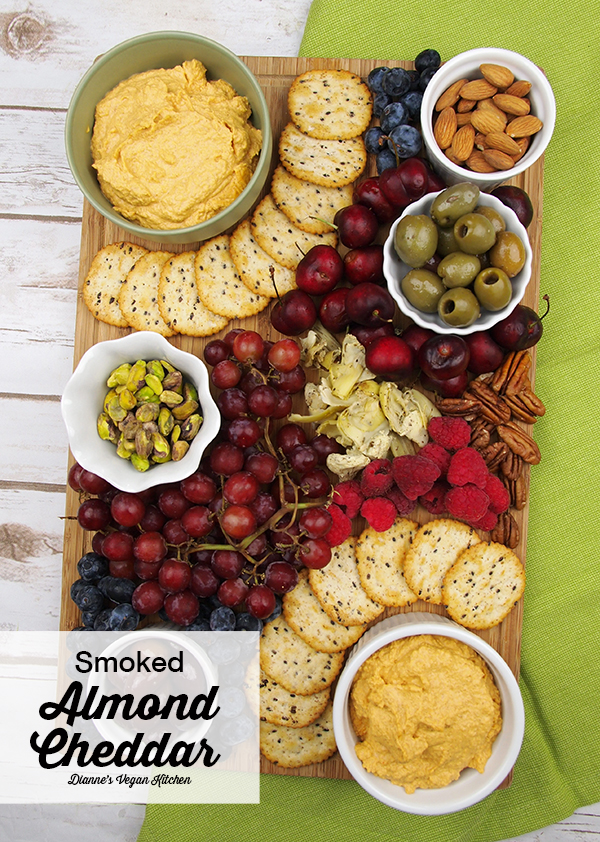 Start soaking those almonds! This delicious Smoked Almond Cheddar Spread from This Cheese is Nuts! is quick and easy to make, and it's sure to be a crowd pleaser!