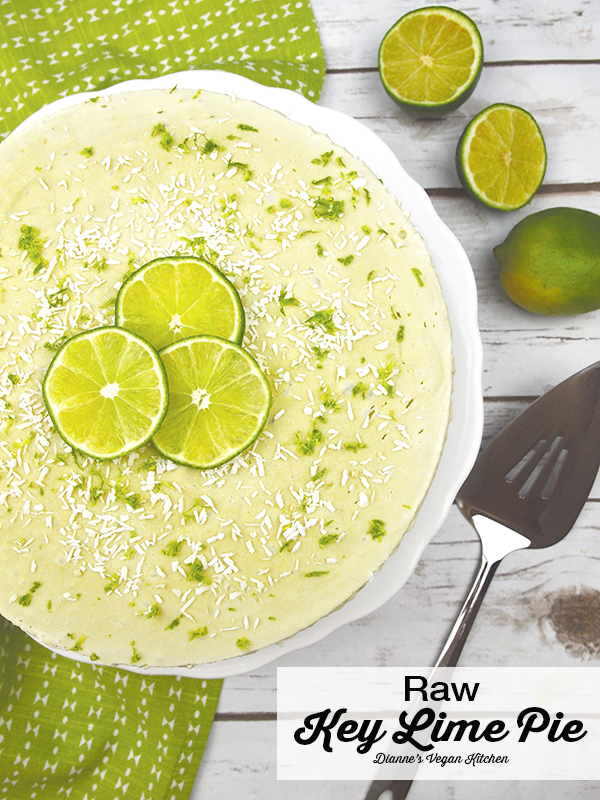 Vegan Raw Key Lime Pie from The Blossom Cookbook (dairy-free and gluten-free) >> Dianne's Vegan Kitchen