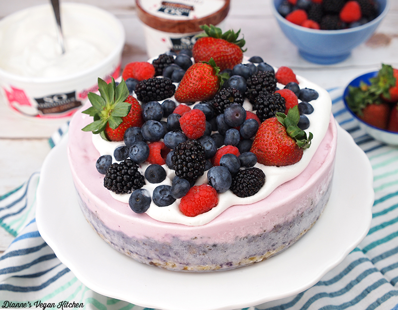 Mixed Berry Vegan Ice Cream Cake