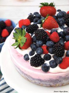 Mixed Berry Vegan Ice Cream Cake