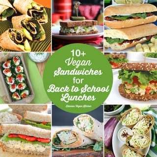10+ Vegan Sandwiches for Back to School Lunches