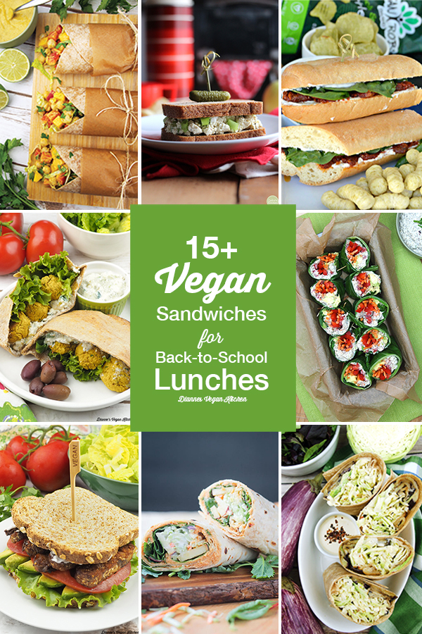 15+ Vegan Sandwiches for Back to School Lunches