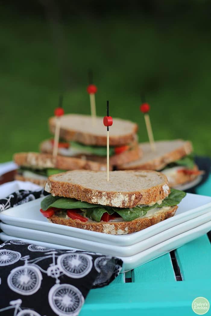 Cadry's Vegan Picnic Sandwich