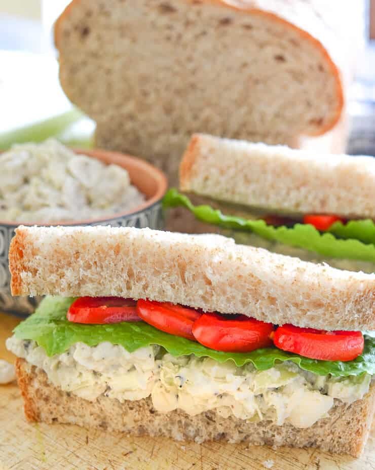 White Bean & Artichoke Vegan Sandwiches