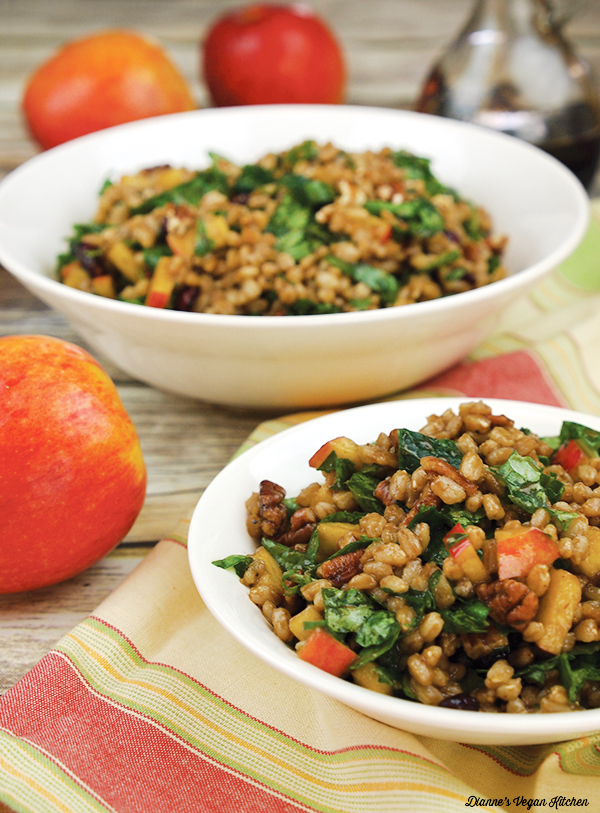 Farro Salad with Apples and Pecans