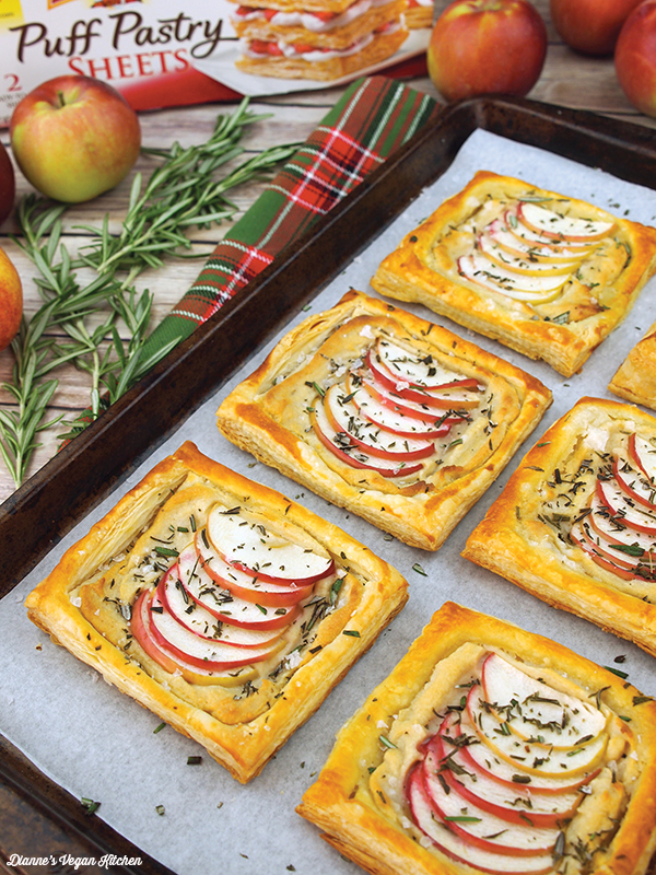 Vegan Cheese and Apple Tartlets