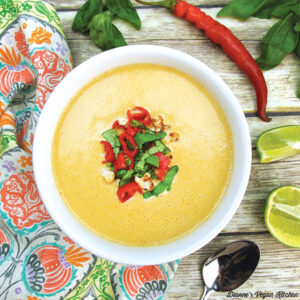 Curried Cauliflower Cream Soup from Awesome Vegan Soups by Vanessa Croessman
