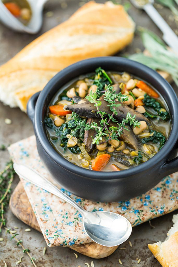 White Bean and Portobello Stew from But I Could Never Go Vegan! by Kristy Turner