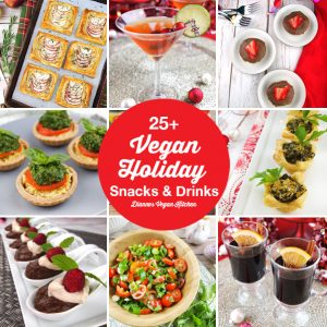 25+ Vegan Holiday Snacks and Appetizers that are perfect for entertaining, potlucks and Christmas parties >> Dianne's Vegan Kitchen