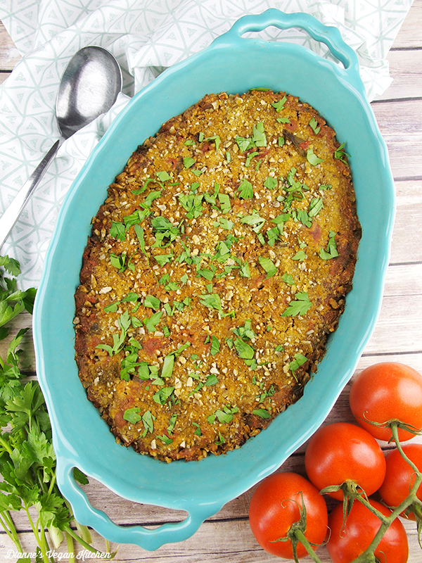Baked Farro With Tomatoes and Herbs from Veganomicon, 10th Anniversary Edition by Isa Chandra Moskowitz