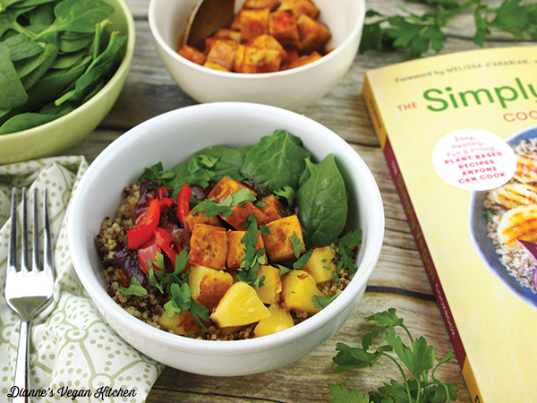 BBQ Hawaiian Tofu Bowl with The Simply Vegan Cookbook