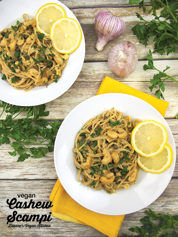 Vegan Cashew Scampi from Real Food, Really Fast by Hannah Kaminsky >> Dianne's Vegan Kitchen