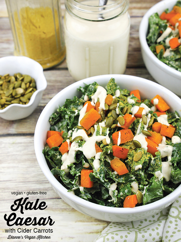 kale caesar with text overlay