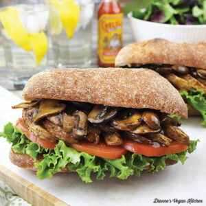 Air Fryer Cajun French Fry Po' Boy with Vegan Mushroom Gravy from Vegan Cooking in Your Air Fryer by Kathy Hester