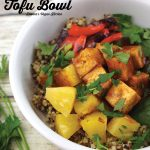 bbq tofu bowl with text overlay