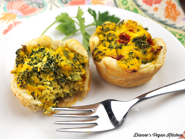 Vegan Broccoli Quiche Cups