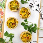 quiche cups with text overlay