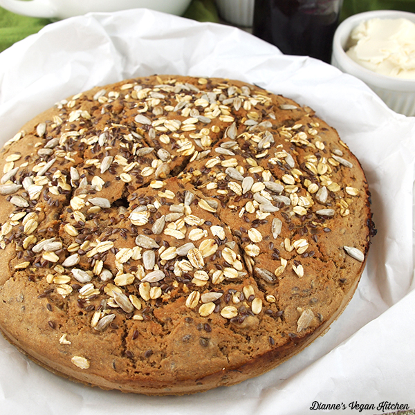 loaf of whole wheat soda bread